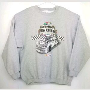 Disney Mens Nascar Daytona Mickey Crewneck Sweater